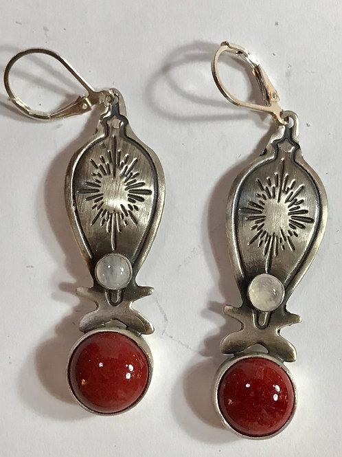 Peachbloom Star Burst Earrings