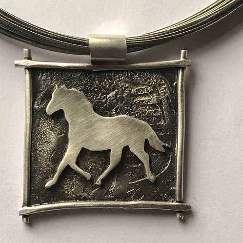 Horse necklace (reserved)