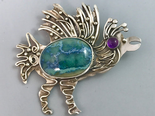 Exotic Bird Pin/Pendant