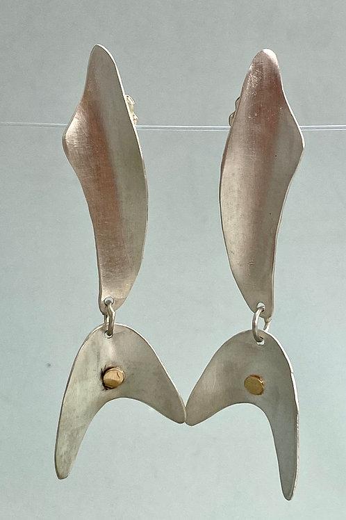 Free form sterling earrings