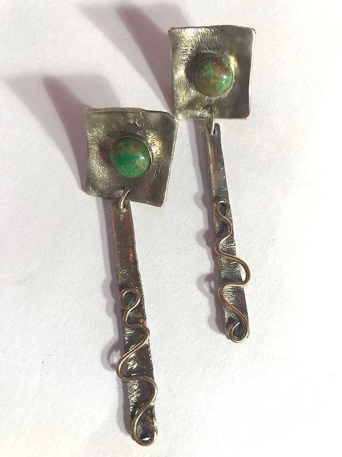 Turquoise Sleder Dangle Earrings