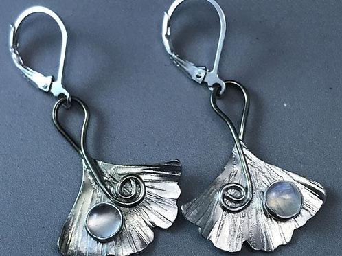 Small Ginkgo Earrings