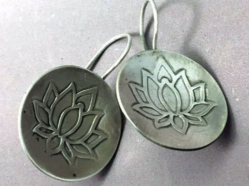 Lotus Disk Earrings