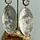 Thumbnail: Large oval dangle earrings