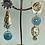 Thumbnail: Turquoise Mist Mismstch earrings
