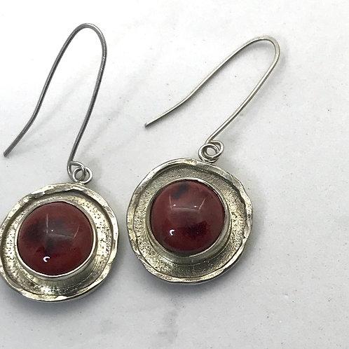 Peachbloom TexturedRim Earrings