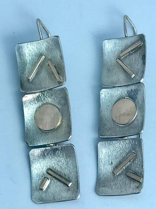 3 Squares Earrings