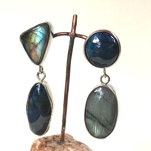 Labradorite and Blues earrings
