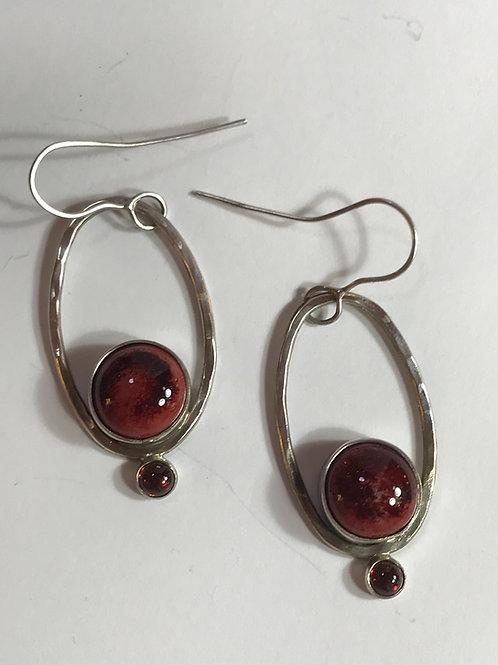 Long Oval Hoops-peachbloom