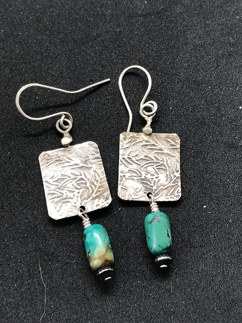 Etched Fern Earrings