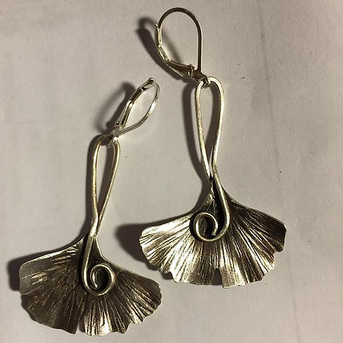 Simple Gingko Earrings