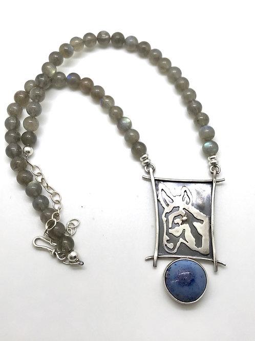 Donkey Necklace- labradorite