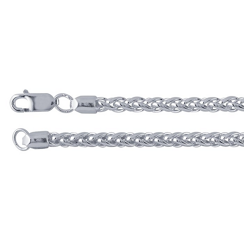 """Sterling Silver 20"""" Wheat Chain"""