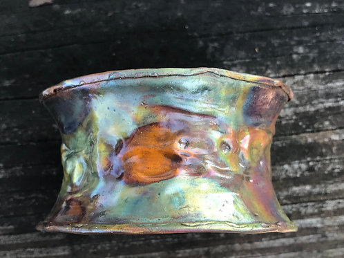 Copper Flame Painted Bracelet