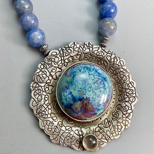 Blue Aventurine Multifired Necklace