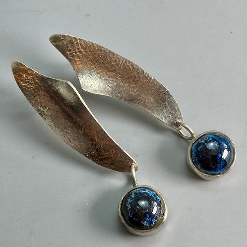Swing Earring-Aurora blue