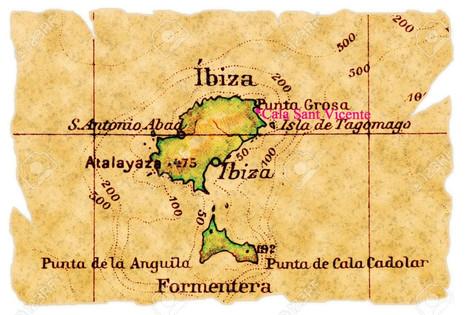 Carte de l ile Ibiza