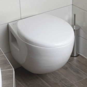White Wall Hung Toilet Glacera with Seat