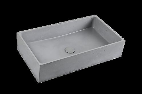 Light Grey Stone Rectangle Sink