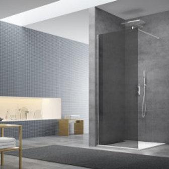 "Shower Glass Dark Gray 117x200 (46""x79"")"