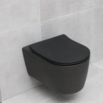 ALFA Wall-Hung Toilet - Matte Black