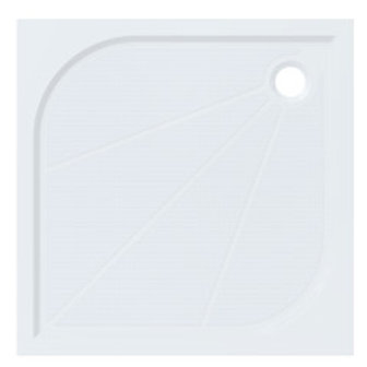 Square Cast Marble Shower Tray 90x90 with feet