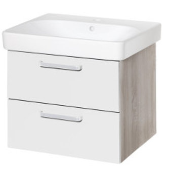 Vario White/Oak Wall-hung Vanity with Sink