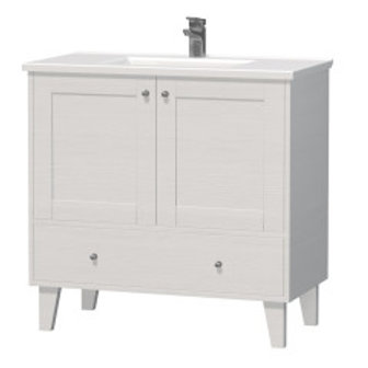 White Provence Free-standing Vanity + Sink