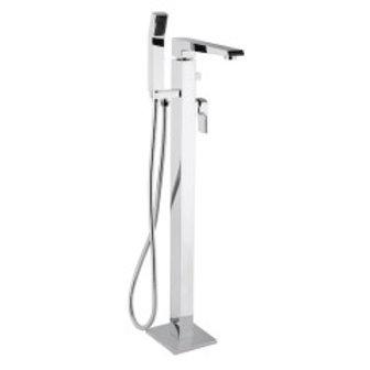 Bathtub Faucet Square Floor Mounted Chrome