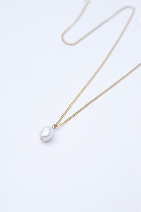 Click & Collect - Collier perle plaqué or
