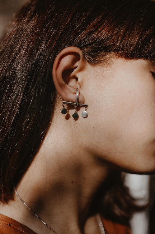 Boucles d'oreilles Barre Pois