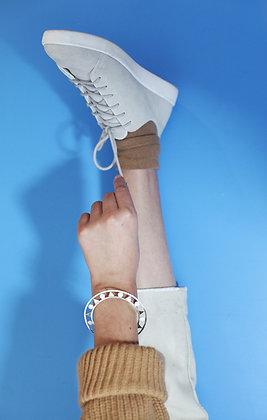 Geo bracelet - white