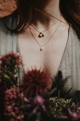 Chest necklace - Plated gold