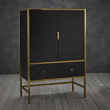 Monaco Cocktail Cabinet - Black