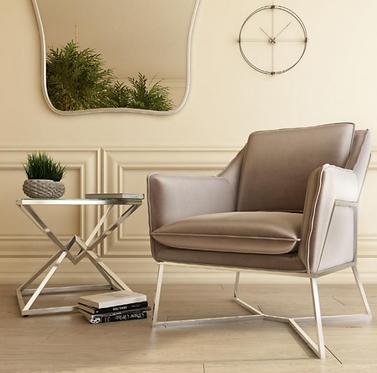 Lara Lounge Chair - Pink | Mink | Silver | Charcoal