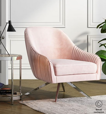 Bianca Lounge Chair - Pink | Mink | Silver | Charcoal