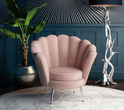 Erica Lounge Chair - Pink | Mink | Silver | Charcoal