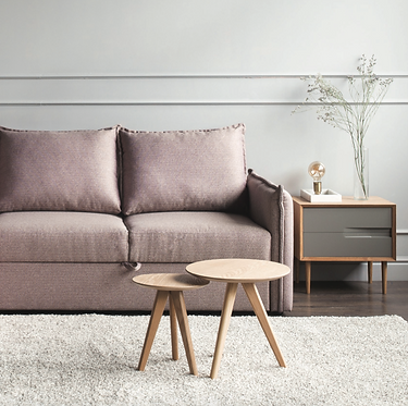 Chester Sofa-Bed Dust Pink | Light Blue | Charcoal