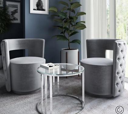 Tamara Lounge Chair - Pink | Mink | Silver | Charcoal