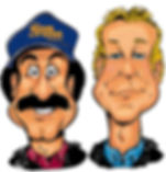 Bob and Tom Q95 Logo Richard Scott Morris Caricature Artist