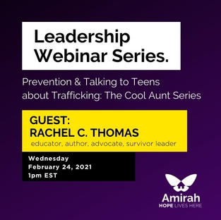 Prevention & Talking to Teens about Trafficking: The Cool Aunt Series