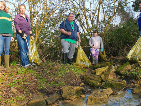 Foxhill people team up to restore natural spring