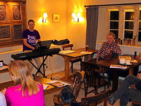 Singing in the rustic setting of The Packhorse