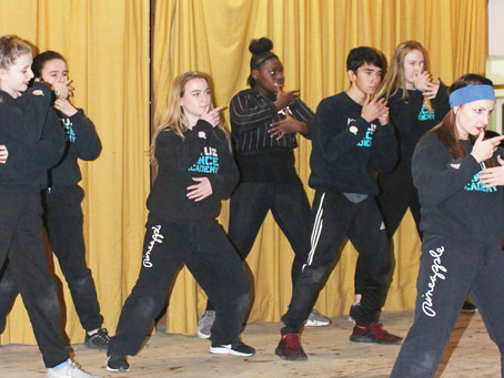 Dance team performs for a good cause