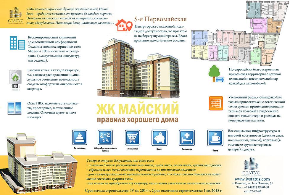 Строящийся многоквартирый дом в центре Иваново