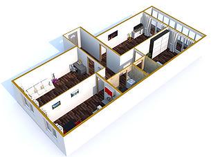 Трехконатная квартира 82 кв.м.