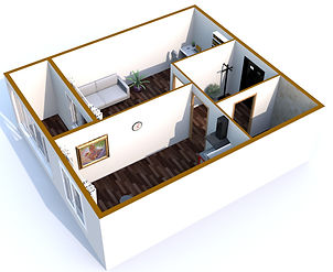 Однокомнатная квартира 40 кв.м.