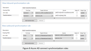 Azure AD Sync rules for extension attributes