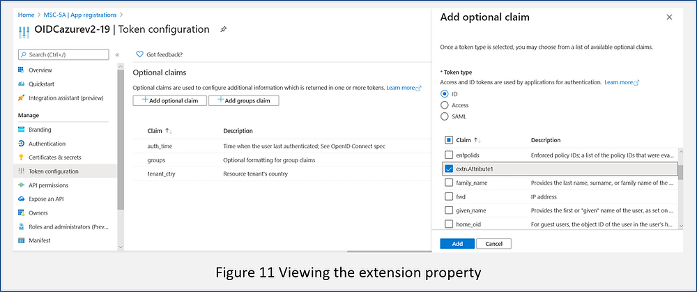 Adding an Azure AD extension property