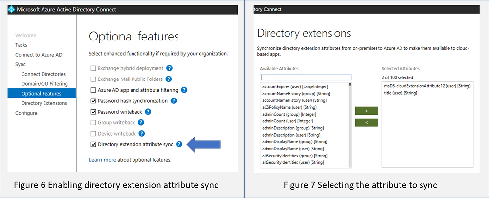 Image of Azure AD Connect extension attribute sync